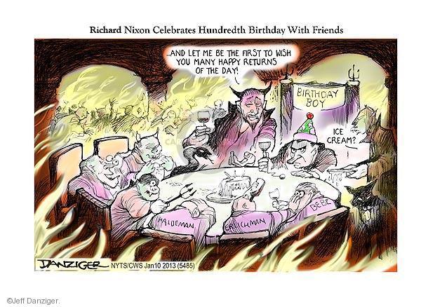Cartoonist Jeff Danziger  Jeff Danziger's Editorial Cartoons 2013-01-10 Richard Nixon