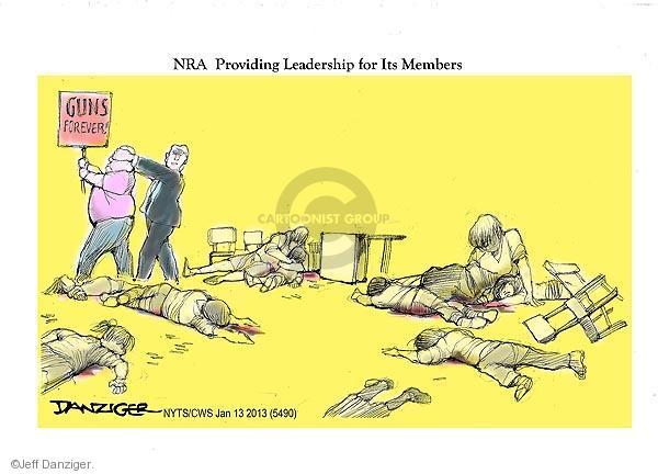 Jeff Danziger  Jeff Danziger's Editorial Cartoons 2013-01-13 assault weapon