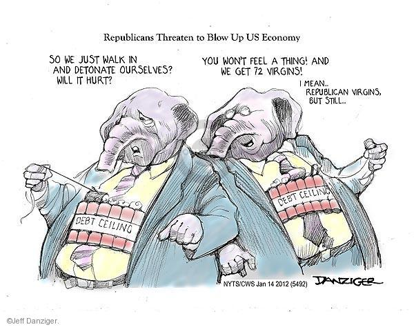Cartoonist Jeff Danziger  Jeff Danziger's Editorial Cartoons 2013-01-14 debt