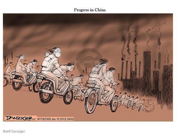 Jeff Danziger  Jeff Danziger's Editorial Cartoons 2013-01-16 factory worker