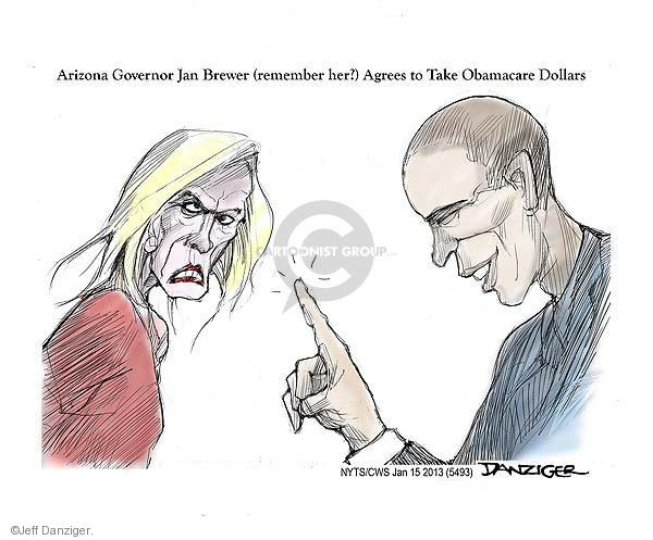 Cartoonist Jeff Danziger  Jeff Danziger's Editorial Cartoons 2013-01-15 Obama republicans