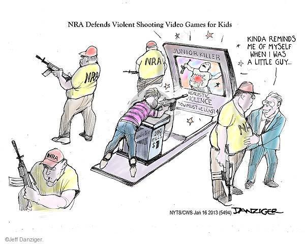 Jeff Danziger  Jeff Danziger's Editorial Cartoons 2013-01-16 assault weapon