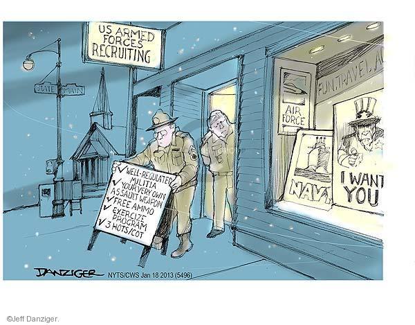Jeff Danziger  Jeff Danziger's Editorial Cartoons 2013-01-18 assault weapon