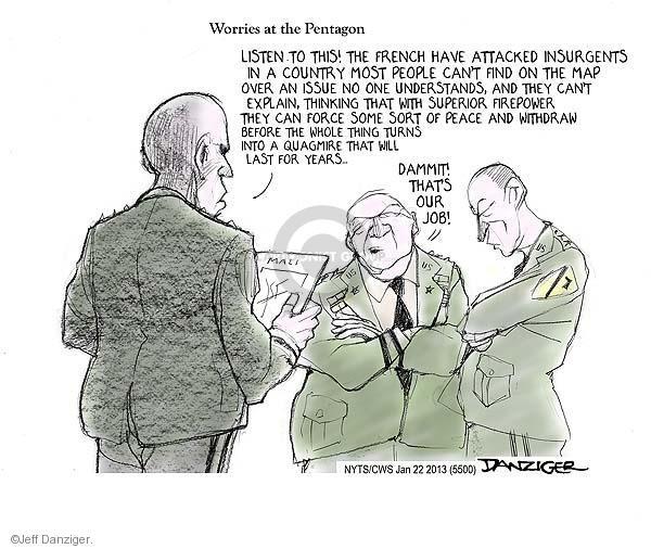Cartoonist Jeff Danziger  Jeff Danziger's Editorial Cartoons 2013-01-22 American