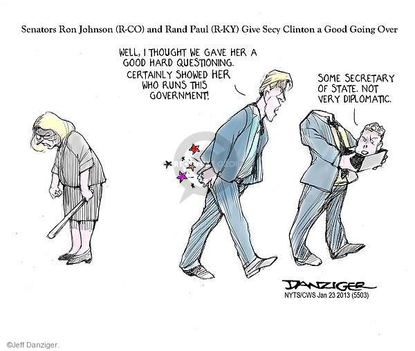 Cartoonist Jeff Danziger  Jeff Danziger's Editorial Cartoons 2013-01-23 ambassador