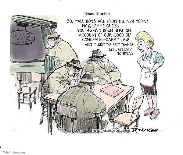 Jeff Danziger  Jeff Danziger's Editorial Cartoons 2013-01-24 assault weapon