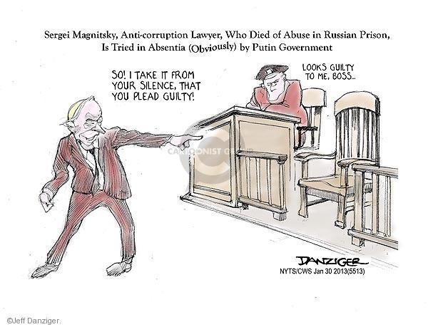 Jeff Danziger  Jeff Danziger's Editorial Cartoons 2013-01-30 corruption