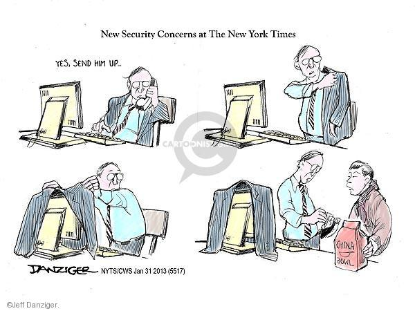 Cartoonist Jeff Danziger  Jeff Danziger's Editorial Cartoons 2013-01-31 Chinese take-out