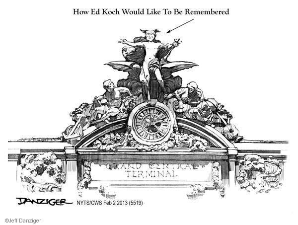 Cartoonist Jeff Danziger  Jeff Danziger's Editorial Cartoons 2013-02-02 remembrance