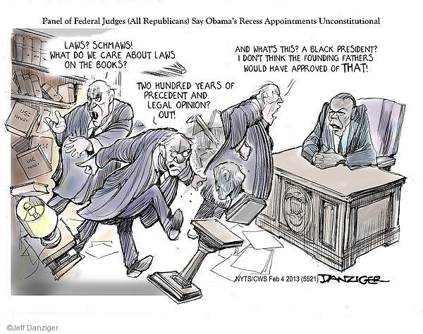 Cartoonist Jeff Danziger  Jeff Danziger's Editorial Cartoons 2013-02-04 Obama republicans