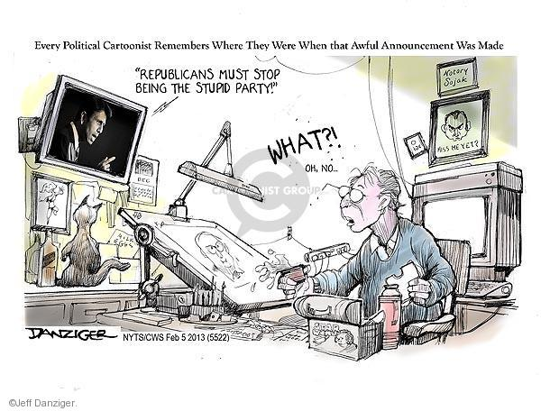 Jeff Danziger  Jeff Danziger's Editorial Cartoons 2013-02-05 cartoonist