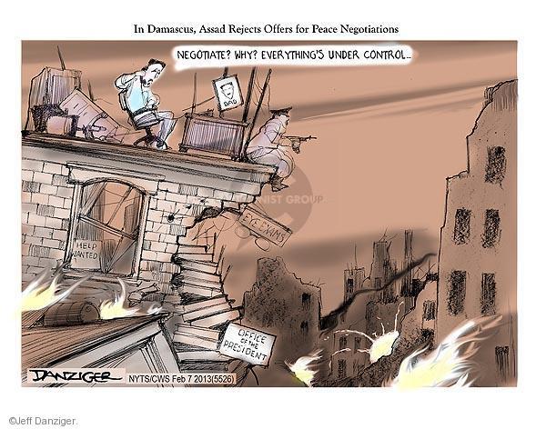 Cartoonist Jeff Danziger  Jeff Danziger's Editorial Cartoons 2013-02-07 eye