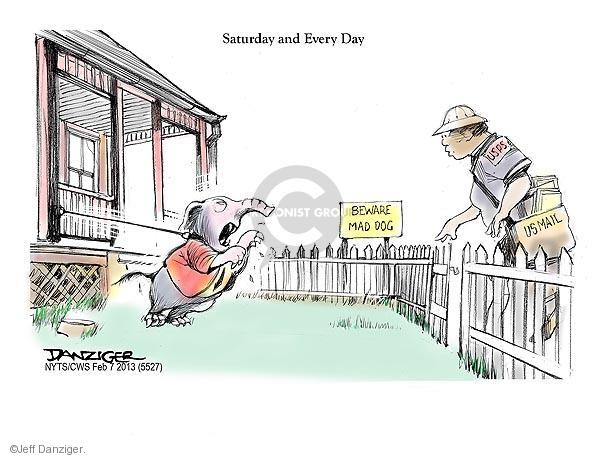 Cartoonist Jeff Danziger  Jeff Danziger's Editorial Cartoons 2013-02-07 United States