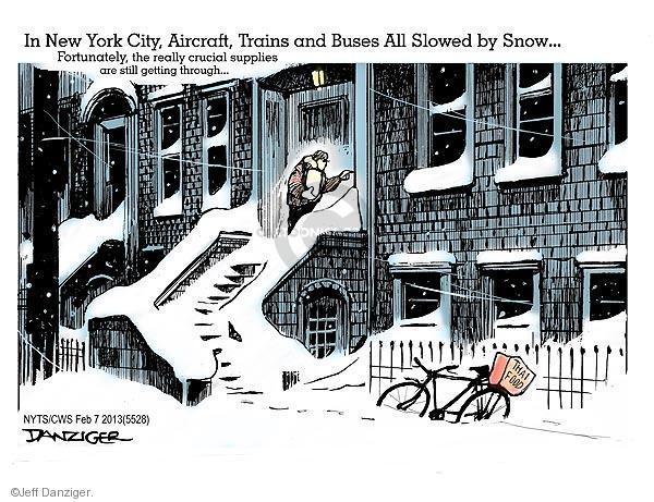 Jeff Danziger  Jeff Danziger's Editorial Cartoons 2013-02-07 snow