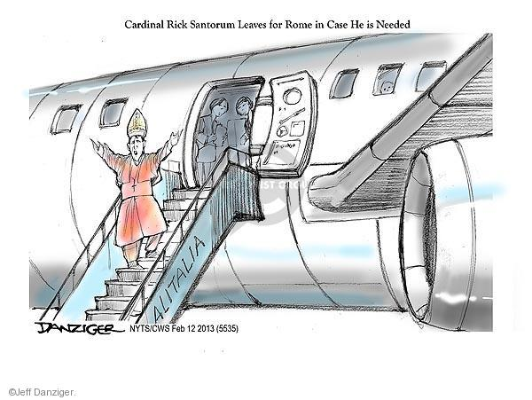 Cartoonist Jeff Danziger  Jeff Danziger's Editorial Cartoons 2013-02-12 religious leader