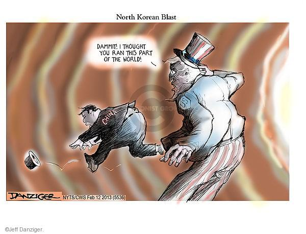 North Korean Blast. Dammit! I thought you ran this part of the world! China. US.