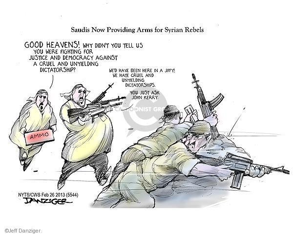 Cartoonist Jeff Danziger  Jeff Danziger's Editorial Cartoons 2013-02-26 international relations
