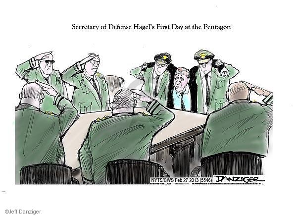 Secretary of Defense Hagels First Day at the Pentagon.