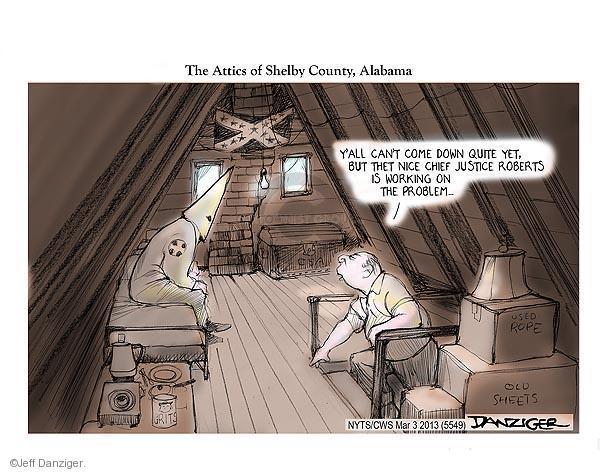 Jeff Danziger  Jeff Danziger's Editorial Cartoons 2013-03-03 racism