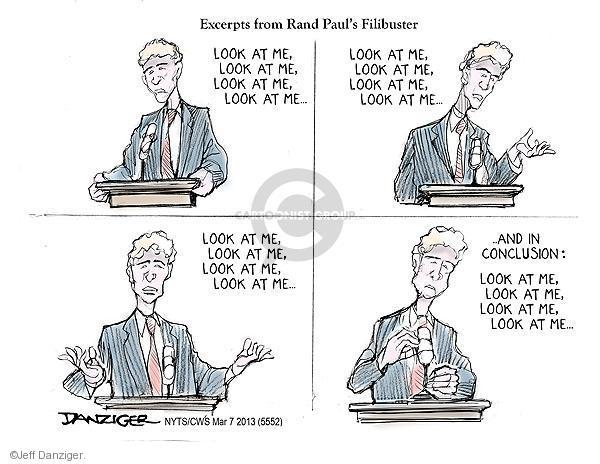 Cartoonist Jeff Danziger  Jeff Danziger's Editorial Cartoons 2013-03-07 republican politician