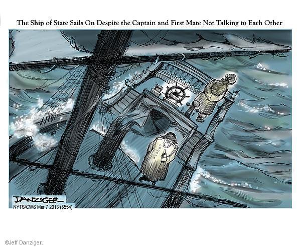 Cartoonist Jeff Danziger  Jeff Danziger's Editorial Cartoons 2013-03-07 speaker