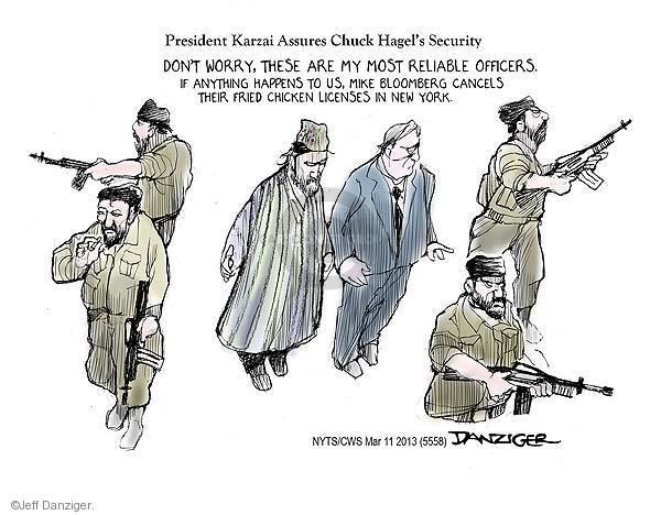 Jeff Danziger  Jeff Danziger's Editorial Cartoons 2013-03-11 Chuck
