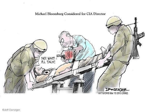 Cartoonist Jeff Danziger  Jeff Danziger's Editorial Cartoons 2013-03-13 CIA