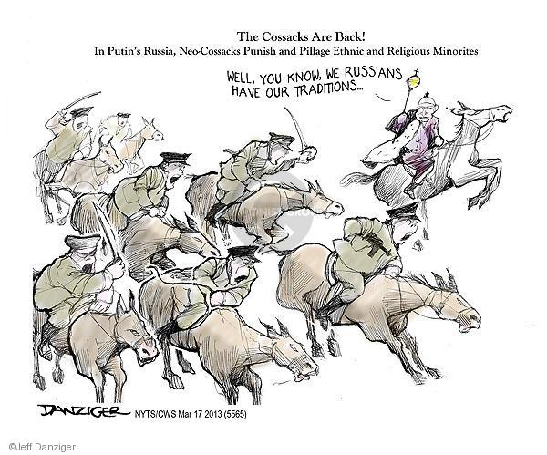 Cartoonist Jeff Danziger  Jeff Danziger's Editorial Cartoons 2013-03-17 Russian President