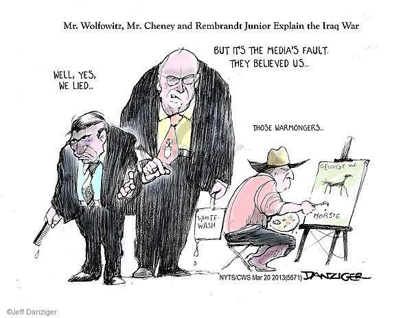 Cartoonist Jeff Danziger  Jeff Danziger's Editorial Cartoons 2013-03-20 destruction