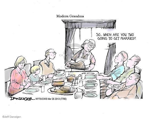 Cartoonist Jeff Danziger  Jeff Danziger's Editorial Cartoons 2013-03-26 same-sex marriage