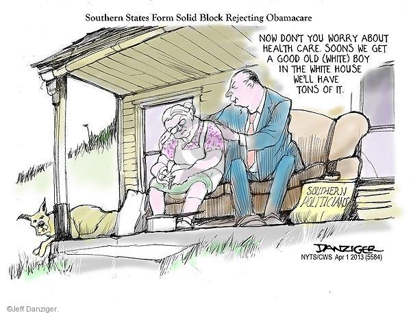 Cartoonist Jeff Danziger  Jeff Danziger's Editorial Cartoons 2013-04-01 southerner