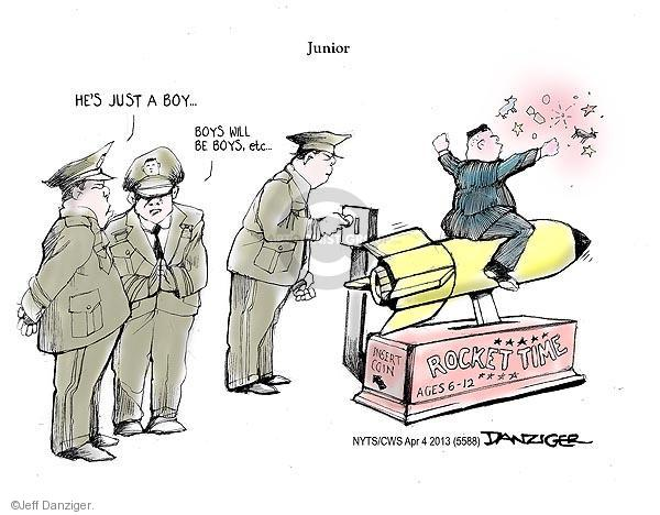 Cartoonist Jeff Danziger  Jeff Danziger's Editorial Cartoons 2013-04-04 leadership