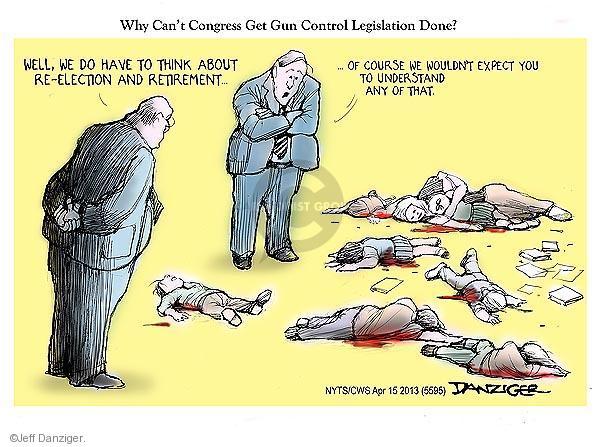 Cartoonist Jeff Danziger  Jeff Danziger's Editorial Cartoons 2013-04-15 retirement