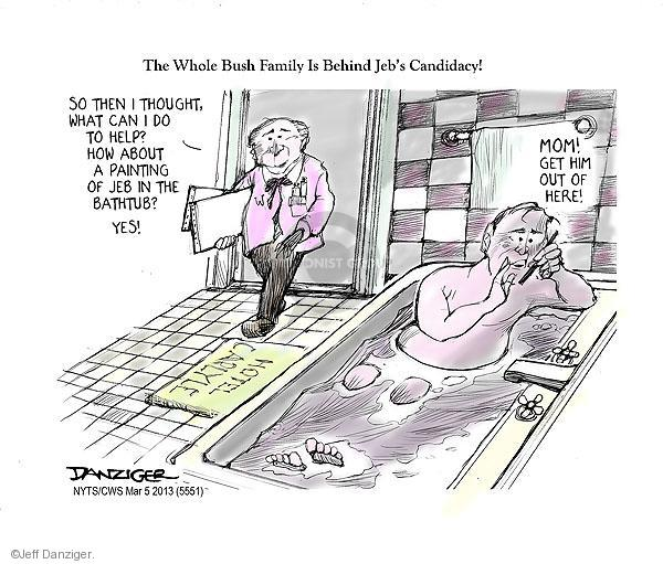 Cartoonist Jeff Danziger  Jeff Danziger's Editorial Cartoons 2013-03-05 George Bush painting