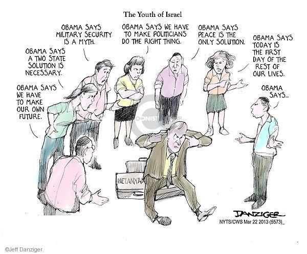 Jeff Danziger  Jeff Danziger's Editorial Cartoons 2013-03-22 Israel