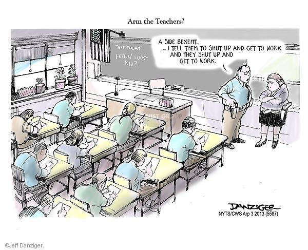 Cartoonist Jeff Danziger  Jeff Danziger's Editorial Cartoons 2013-04-03 teacher