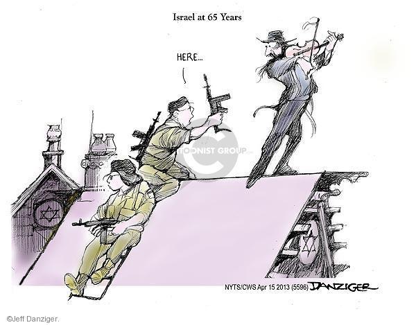 Cartoonist Jeff Danziger  Jeff Danziger's Editorial Cartoons 2013-04-15 Israel