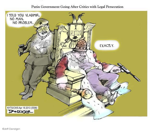 Cartoonist Jeff Danziger  Jeff Danziger's Editorial Cartoons 2013-04-18 legal system