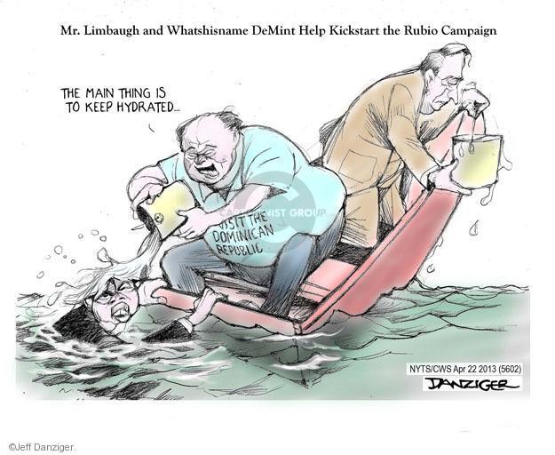 Cartoonist Jeff Danziger  Jeff Danziger's Editorial Cartoons 2013-04-22 republican politician