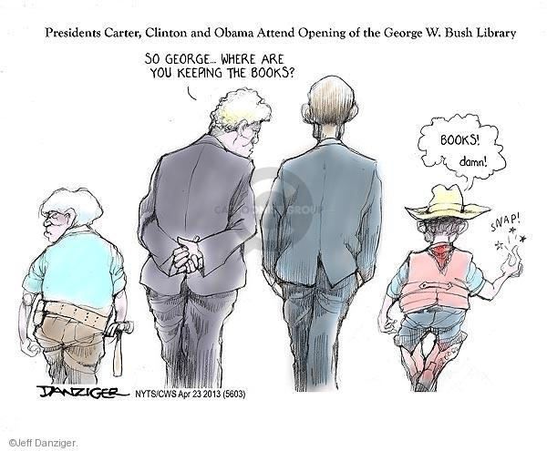 Jeff Danziger  Jeff Danziger's Editorial Cartoons 2013-04-23 Bush administration