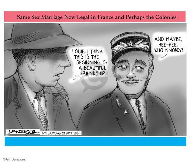 Cartoonist Jeff Danziger  Jeff Danziger's Editorial Cartoons 2013-04-24 same-sex marriage