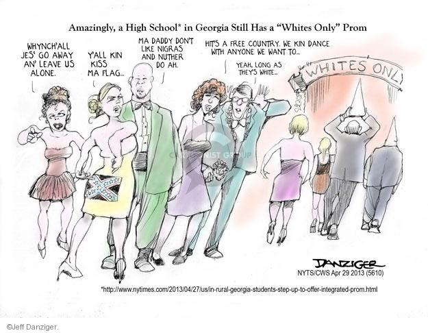 Cartoonist Jeff Danziger  Jeff Danziger's Editorial Cartoons 2013-04-29 high school