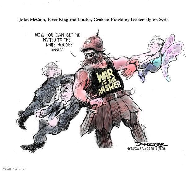 Cartoonist Jeff Danziger  Jeff Danziger's Editorial Cartoons 2013-04-29 leadership