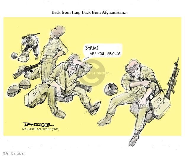 Cartoonist Jeff Danziger  Jeff Danziger's Editorial Cartoons 2013-04-30 international conflict