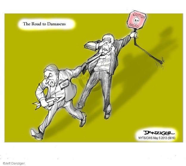 Cartoonist Jeff Danziger  Jeff Danziger's Editorial Cartoons 2013-05-05 caution