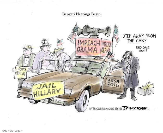 Cartoonist Jeff Danziger  Jeff Danziger's Editorial Cartoons 2013-05-08 testimony