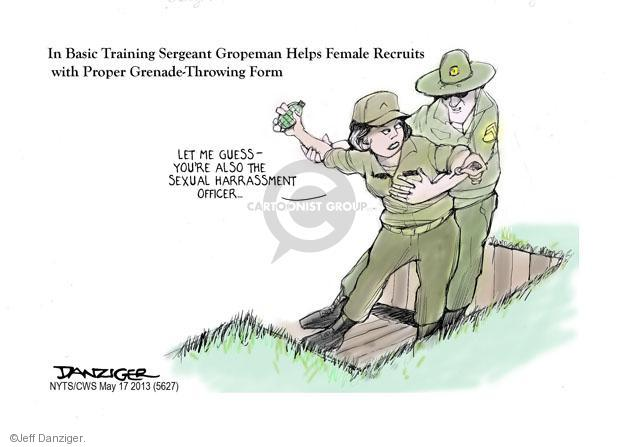 Cartoonist Jeff Danziger  Jeff Danziger's Editorial Cartoons 2013-05-17 military recruit