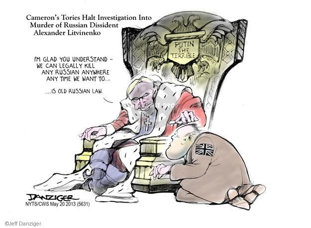 Cartoonist Jeff Danziger  Jeff Danziger's Editorial Cartoons 2013-05-21 international law