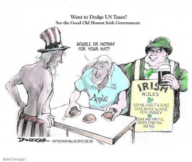 Cartoonist Jeff Danziger  Jeff Danziger's Editorial Cartoons 2013-05-22 Ireland