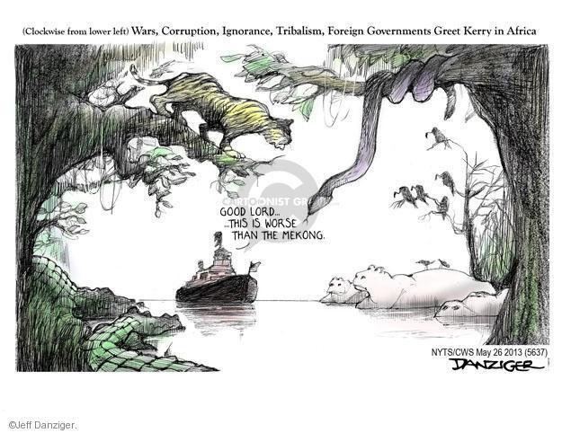 Cartoonist Jeff Danziger  Jeff Danziger's Editorial Cartoons 2013-05-26 international relations